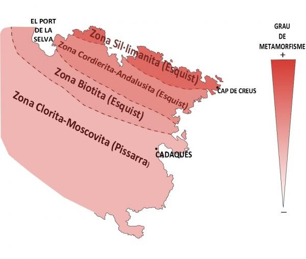 Mapa geològic esquemàtic del Cap de Creus ©CMCNB