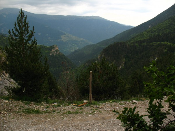 Panoràmica de la Vall d'Estremera des de l'entrada a la mina Zaragoza