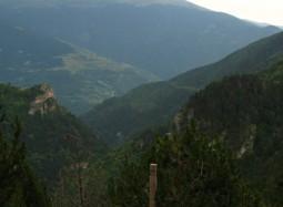 Vall d'Estremera des de l'entrada a la Mina Zaragoza